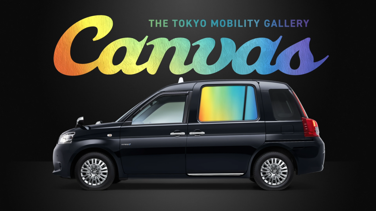 AGC's transparent glass screen 'Glascene' adopted for digital signage service on side windows of taxis (Japan)