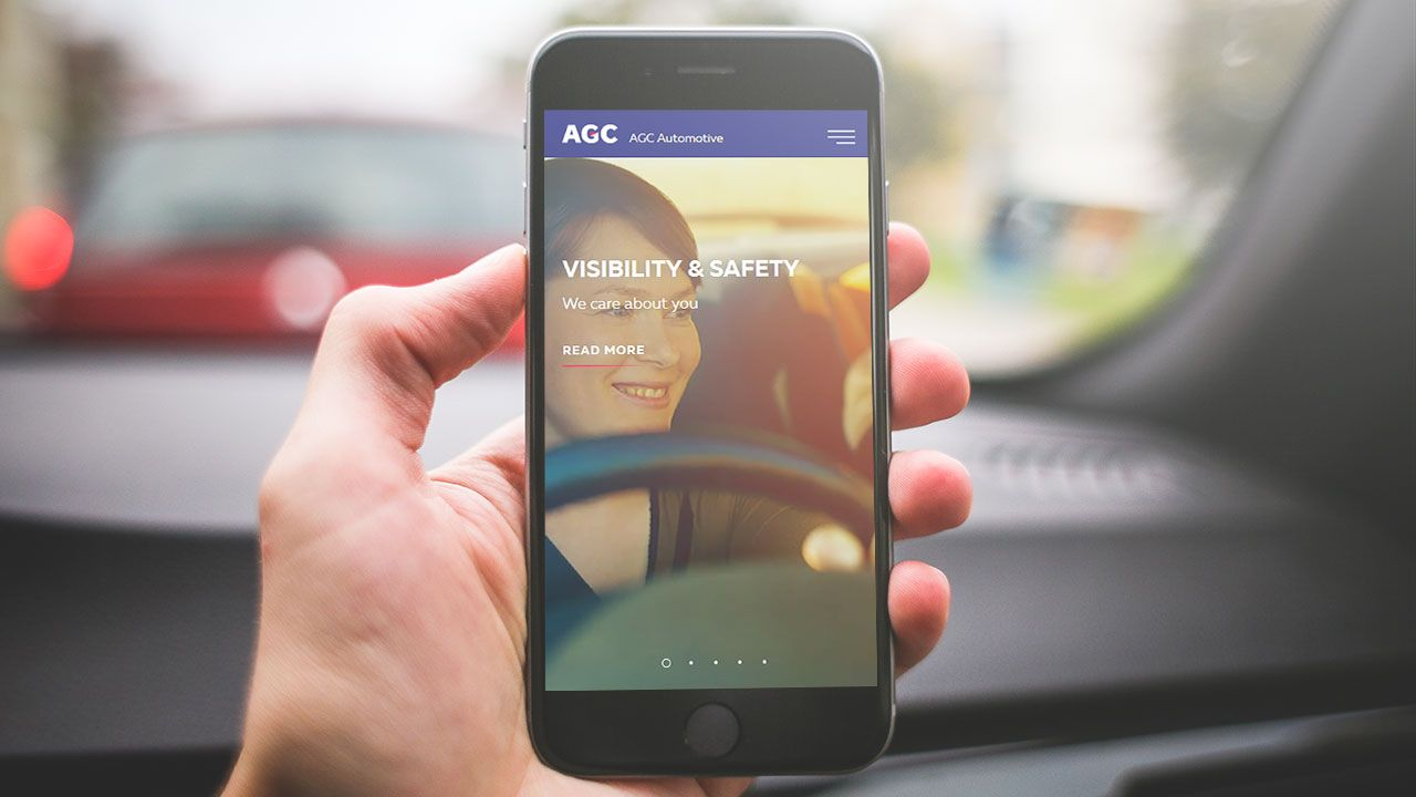 New website for AGC Automotive, the largest automotive glassmaker in the world
